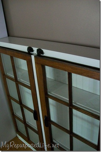 cabinet made out of windows