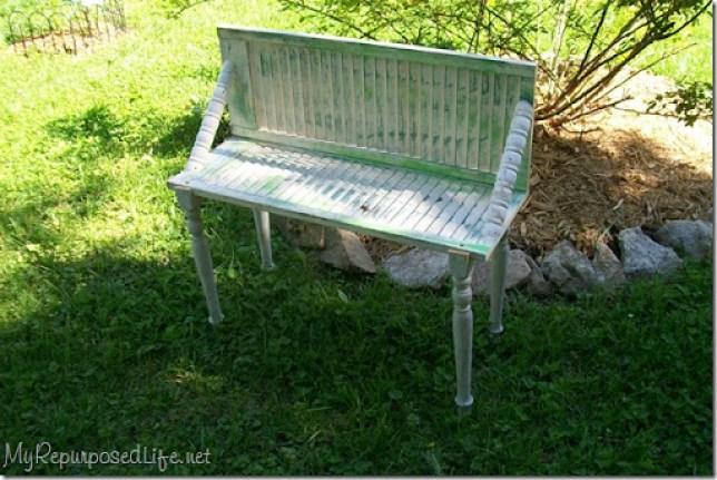 plant garden bench