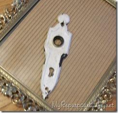 antique doorknob plate