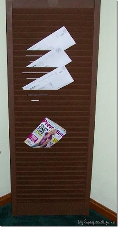 repurposed bifolding door or shutter