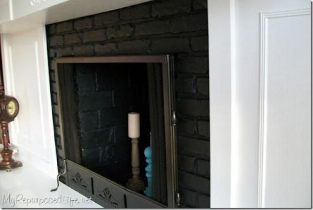 painted brass fireplace screen