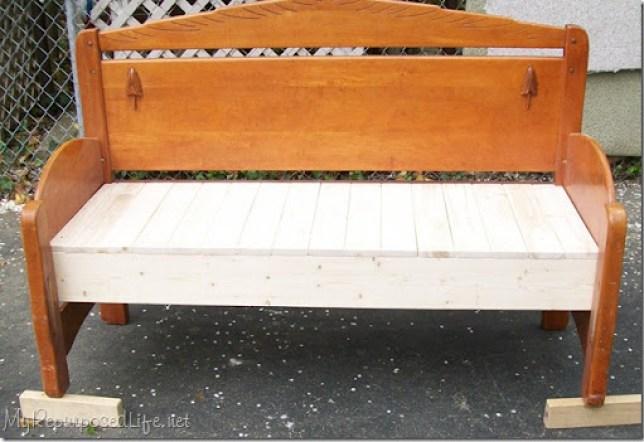 full size headboar bench tutorial