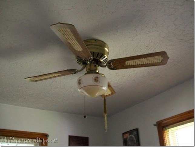 old ceiling fan gets painted
