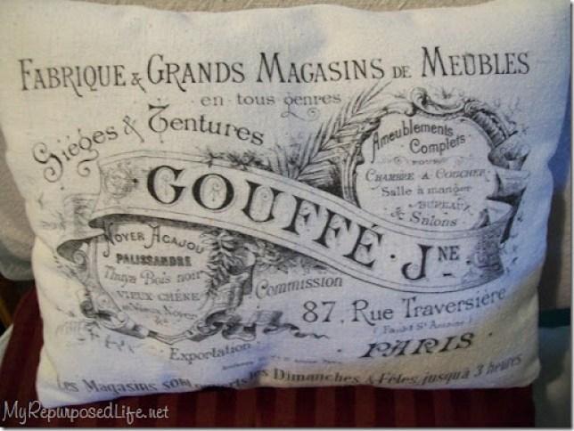 drop cloth pillow printed image