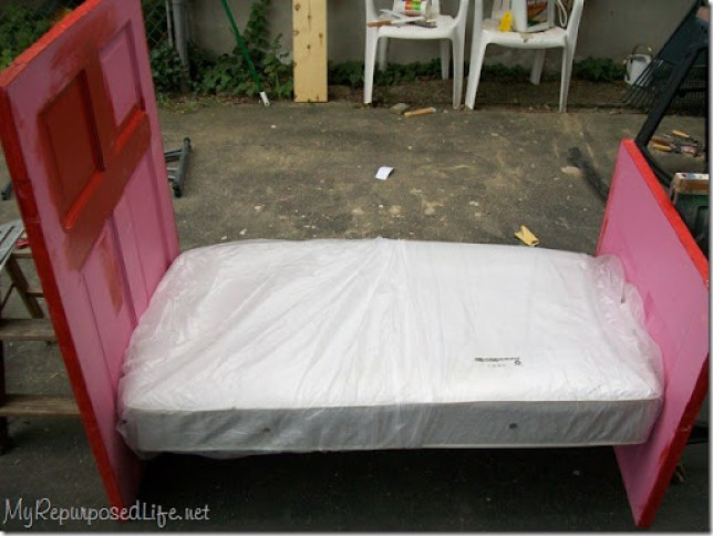repurposed door (bed)
