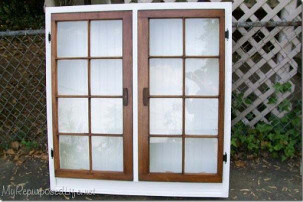 repurposed window cabinet 3