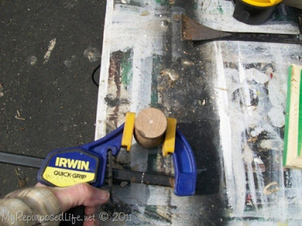 safely drill a finial
