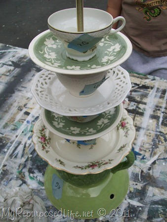how to make a teacup or teapot lamp