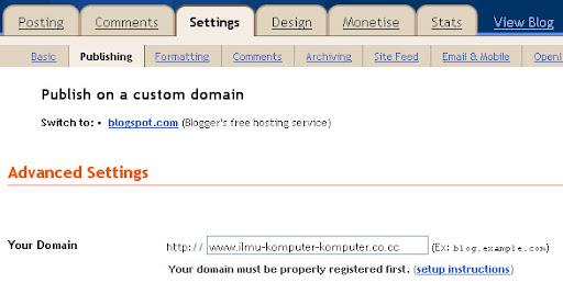 pindah <i>domain</i> gratis .co.cc