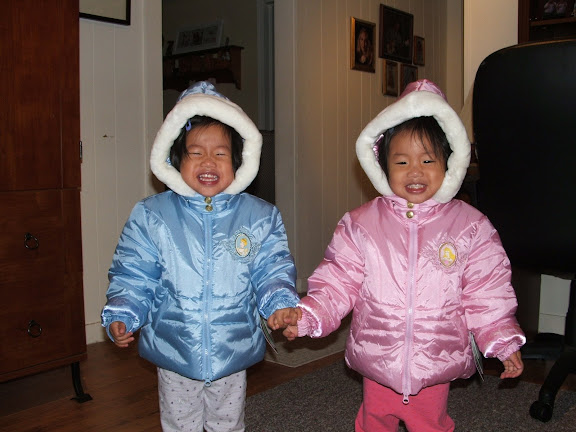 Do you think they like their new coats?  Yes, folks, we have snow on the ground.