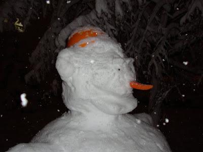 Морда снеговика