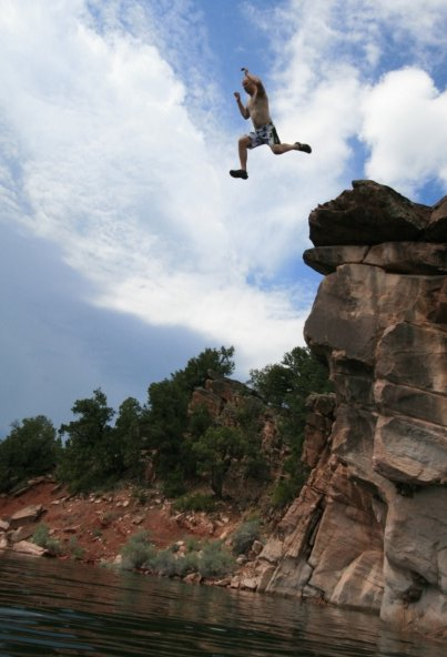 Some cliff jumping.