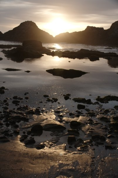 Sunset at Seal Rocks.