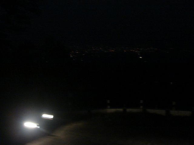The view of Mettupalayam town from the hill