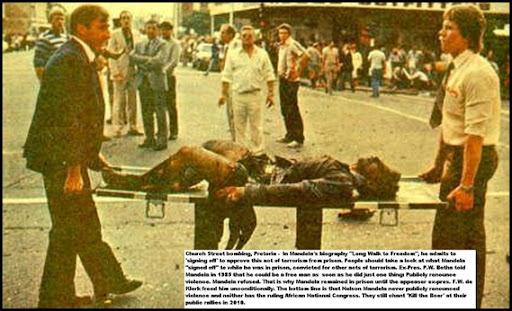 Image result for KERKSTRAAT BOMB CAPE TOWN BOMB MANDELA PHOTO
