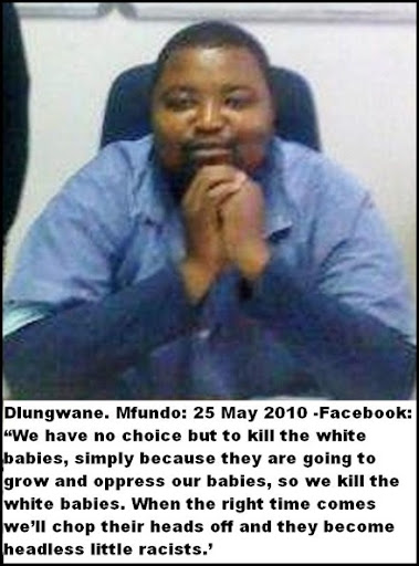 Dlungwane Mfundo June 22 2010 ONE BULLET ONE WHITE INFANT