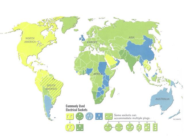Mapa de enchufes