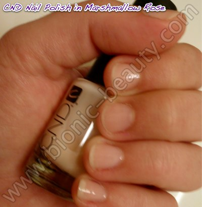 Bionic Beauty swatch and review - CND nail polish in Marshmallow Rose