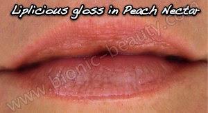 Liplicious lip gloss in Peach Nectar