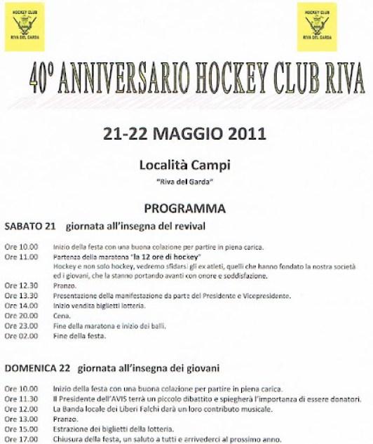 L'Hockey Club Riva compie 40 anni !!!!