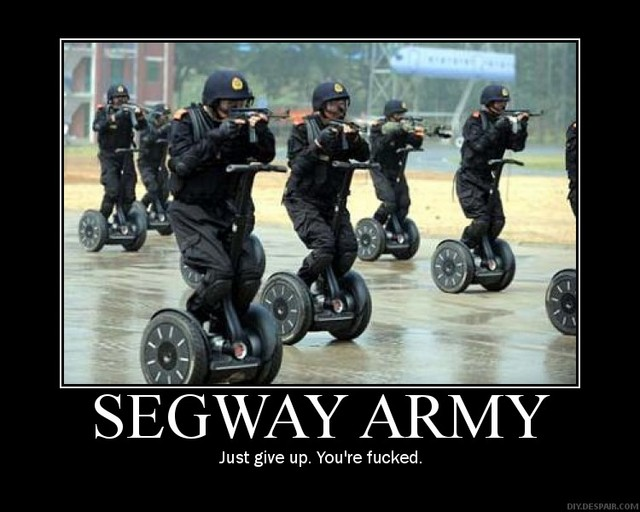 segway army motivational poster