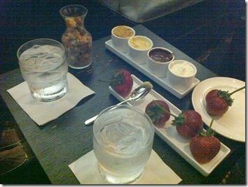 dessert at Peaks Lounge