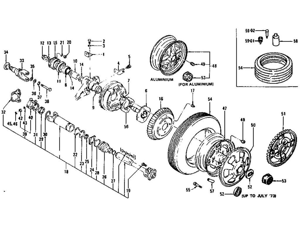 datsun 240z 260z 280z rear axle amp drive shaft