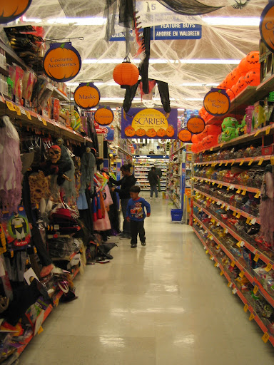 supermarket at halloween
