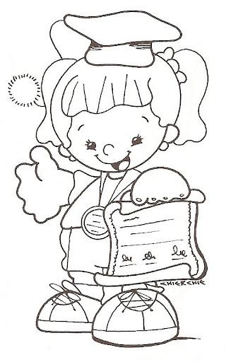 Dibujos Para Colorear De Graduacion Infantil Dibujos De
