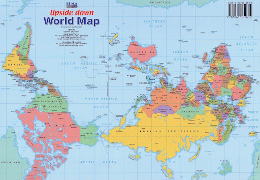 Upside Down map