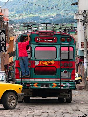 The bus to Xela
