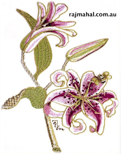 goldwork and silk lily kit
