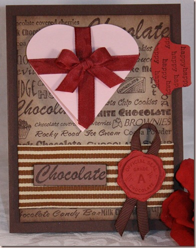 spencers chocolate card