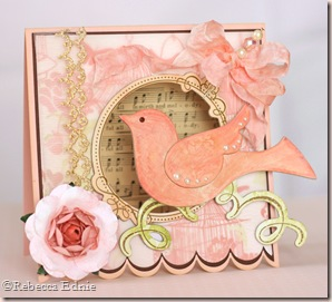 pretty pink bird shabby