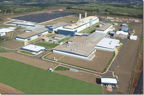 Vista aerea do Complexo Industrial Automotivo de Gravatai