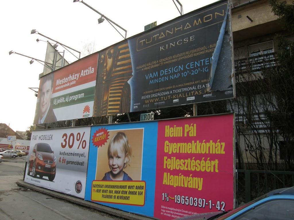 óriásplakátok, Budaörsi út, Ki az óriásplakátokkal Magyarországról