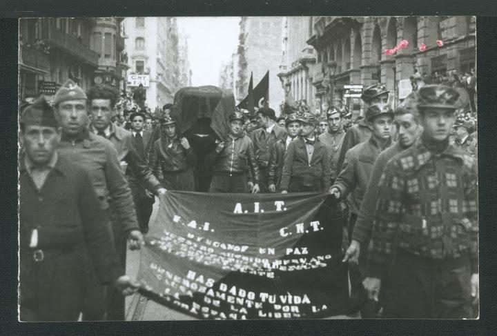 Entierro de Durruti. Fuente: El Rufián Melancólico