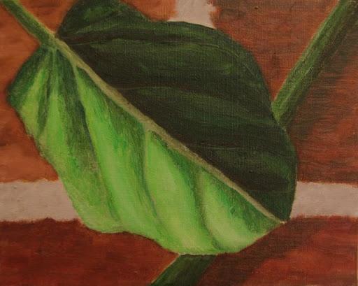 Brick and Leaf by Rebecca Wang