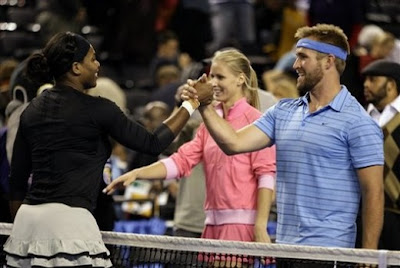 While Im not a huge fan of facial hair, Ill take whatever I can get from Garrett!  How can you not love a man who appreciates tennis?