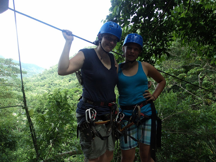Margaret and I part way through the zip lines.