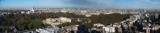 London overlooking Buckingham Palace