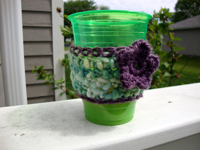 Crochet Handspun Coffee Sleeve