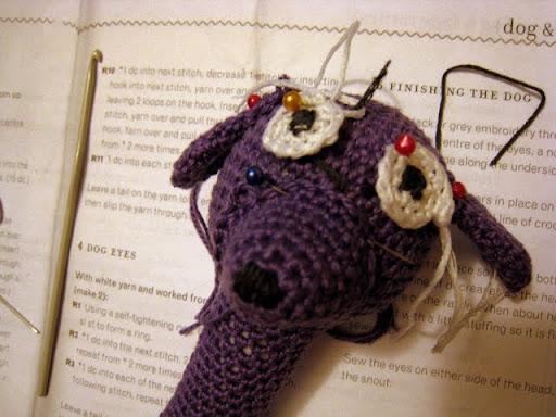 Dog Rattle In Purple Renjets Adventures In Yarnery