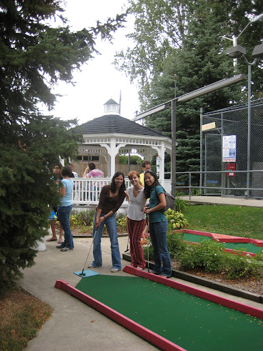 University of Michigans officers had a fun time playing mini golf at last falls officer retreat.