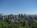 skyline from mount royal
