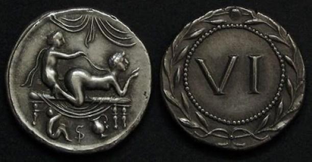 Sexo em moedas romanas