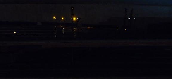 Schaduwstation gedeelte zonder verlichting