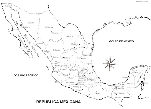 map of mexico with names coloring pages coloring pages
