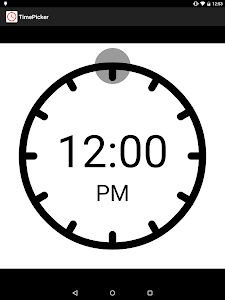 TimePicker screenshot 1