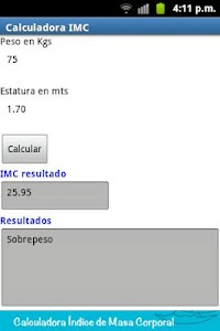 Índice de masa corporal screenshot 2
